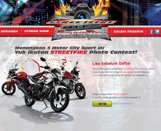 Streetfire Photo Contest 2014 Berhadiah 3 Motor dan Uang Total 24 JUTA