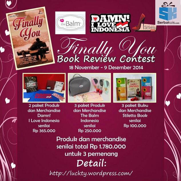 Kontes Review Buku Finally You Book Berhadiah Total Rp1.780.000
