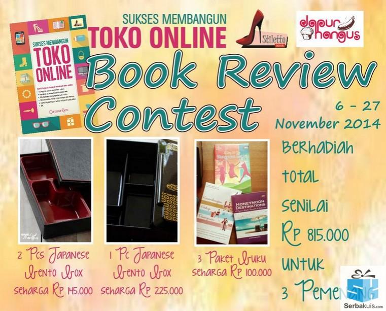 Kontes Review Buku Sukses membangun Toko Online Hadiah Total 815K