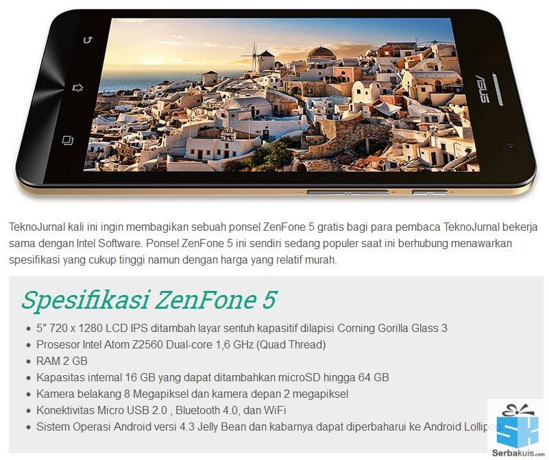 Kuis Mudah Berhadiah Android ASUS Zenfone 5