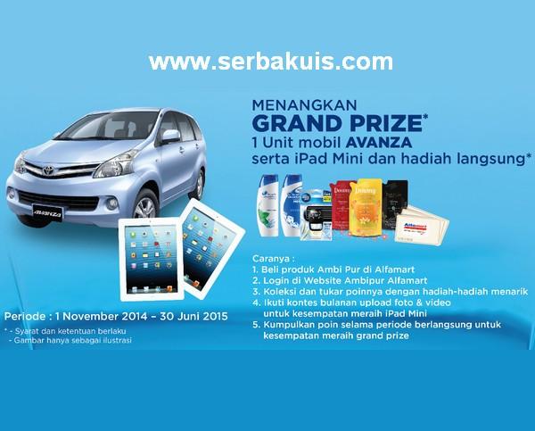 Poin Reward Berhadiah Mobil Toyota Avanza dan iPad Mini