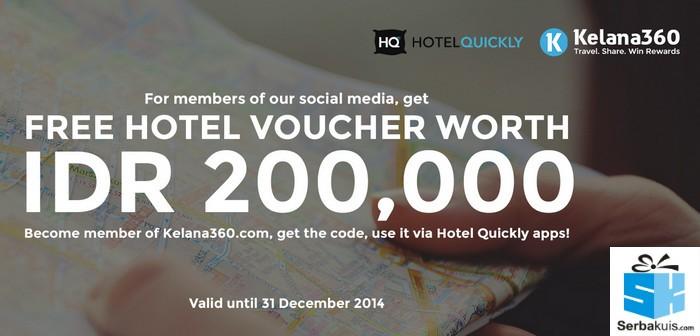 Voucher Hotel Quickly 200K Gratis Tanpa Diundi dari Kelana360