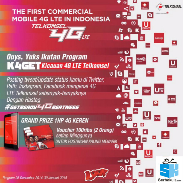 Program K4GET Kicauan 4G LTE Telkomsel