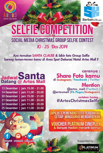 Social Media Chrismas Group Selfie Contest
