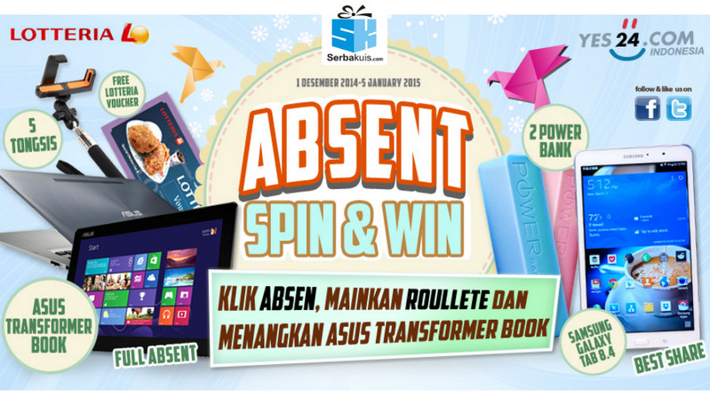 absent spin and win