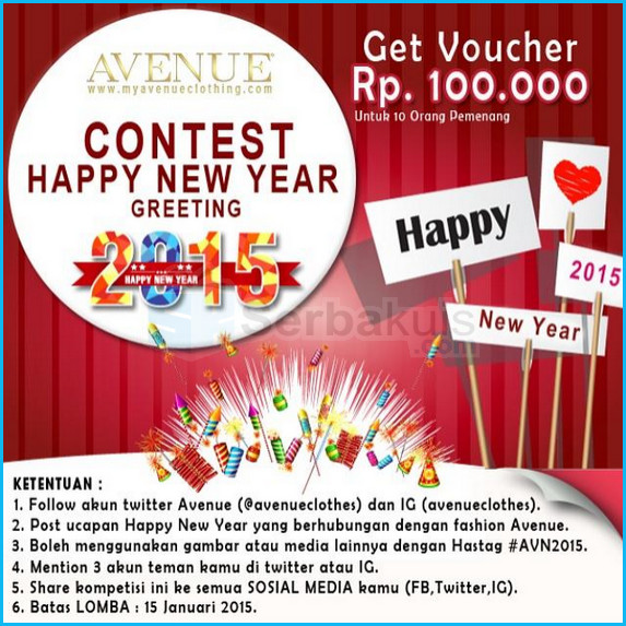 Evenue Contest Happy New Year Greeting 2015