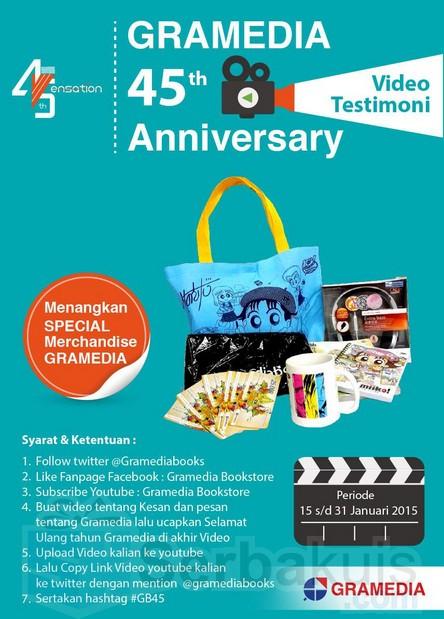 Kontes Video Gramedia 45 Anniversary