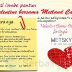 lomba pantun valentine bersama Metland Card