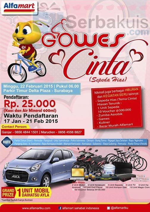 Event Gowes Cinta Alfamart Surabaya
