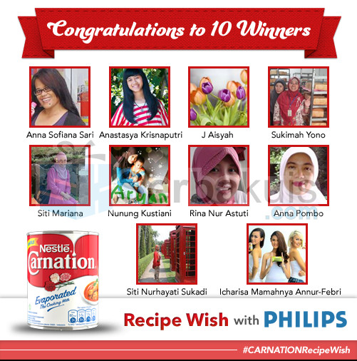Pemenang Carnation Recipe Wish With Phillips