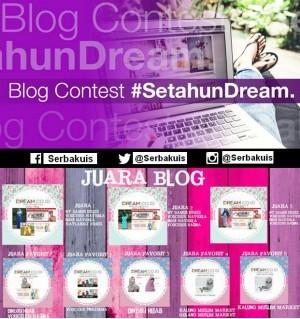 Kontes Blog Setahun Dream Berhadiah Menarik