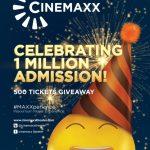 Kuis 1 Juta Penonton Hadiah 500 Tiket Cinemaxx Theater