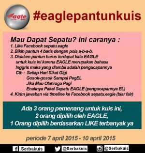 Eagle Pantun Kuis Berhadiah Sepatu untuk 3 Pemenang