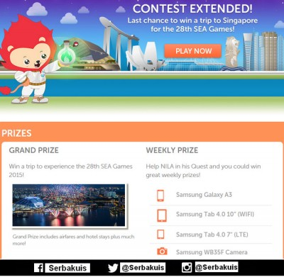 Game NILA Quest Berhadiah Samsung Galaxy A3 / Minggu