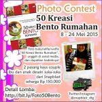 Kontes Foto Buku 50 Kreasi Bento Rumahan Berhadiah