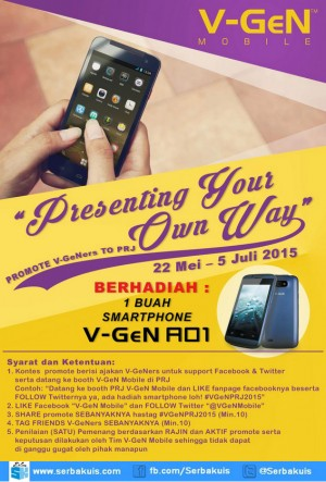 Kontes Presenting Your Own Way Berhadiah V-Gen AO1