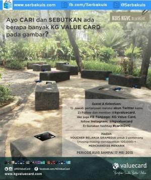 Kuis Cari KG Value Card Berhadiah Voucher + Merchandise
