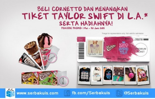 Promo Cornetto Taylor Swift The 1989 Rold Tour 2015