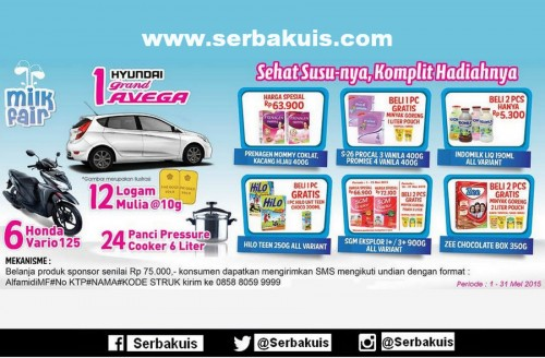 Promo Undian Milk Fair Alfamidi Mei 2015