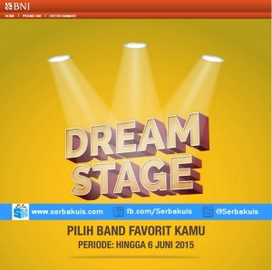 Vote Band BNI Dream Stage Favoritmu Menangkan 5 unit MP3 player & Voucher Belanja