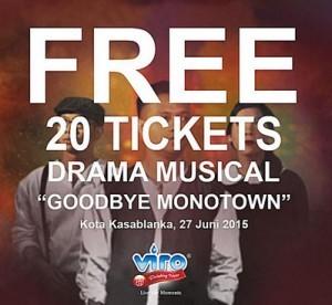 Free 20 Tickets Drama Musical Goodbye Monotown-thumb