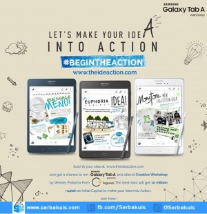 Kontes Begin The Action Berhadiah 6 SAMSUNG GALAXY Tab A