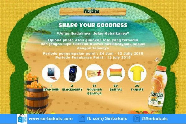 Kontes Floridina Share Your Godness Berhadiah iPad Mini