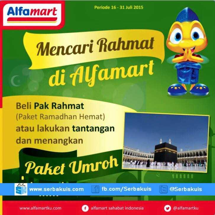 Kontes Mencari Rahmat di Alfamart Berhadiah Paket Umroh
