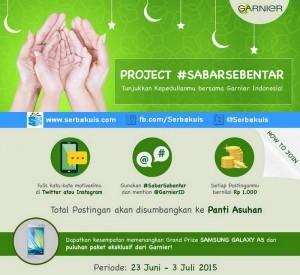 Kuis Garnier Sabar Sebentar Berhadiah SAMSUNG Galaxy A5