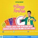 Kuis Vitacimin Song For Fun Berhadiah Pulsa 50K Setiap Hari