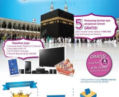 Promo Undian Nestea Solaria Berhadiah 5 Paket Umroh Travel