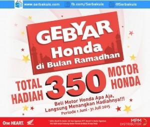 Undian Gebyar Honda MPM Berhadiah 350 Motor Gratis