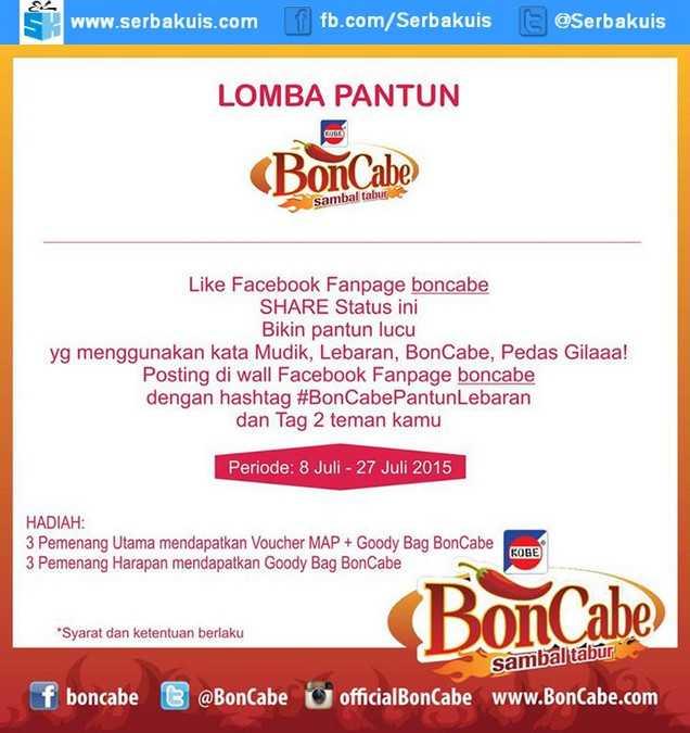 Kontes BonCabe Pantun Lebaran Berhadiah Voucher MAP & Goodie Bag