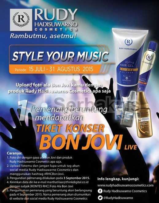 Kontes Style Your Music Hadiah Tiket Konser Bon Jovi