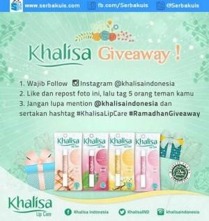 Kuis Khalisa Giveaway Berhadiah 5 Paket Spesial
