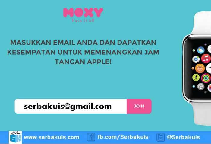 Kuis Moxy Giveaway Berhadiah Apple Watch