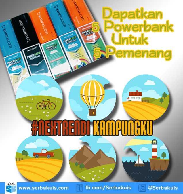 Kuis NextrenDi Kampung Halamanku Hadiah 5 Powerbank