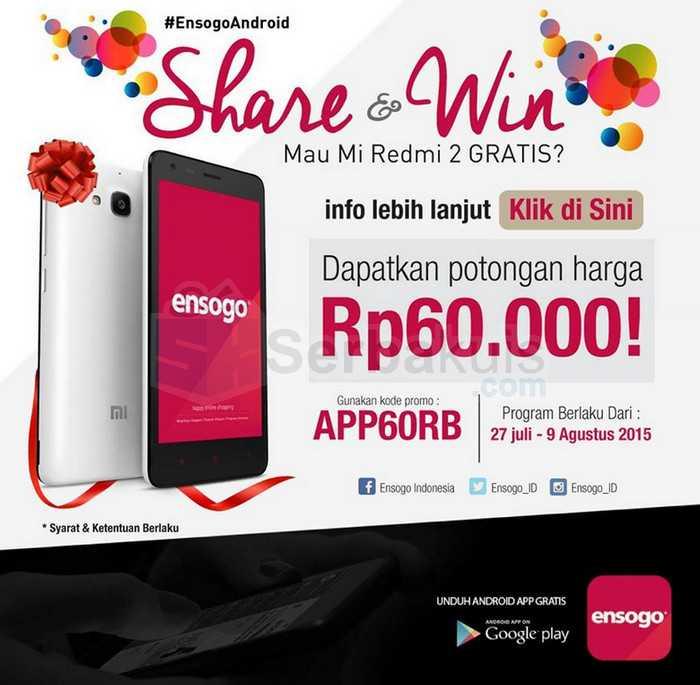 Kuis Share & Win Ensogo Berhadiah Xiaomi Redmi 2-compressed