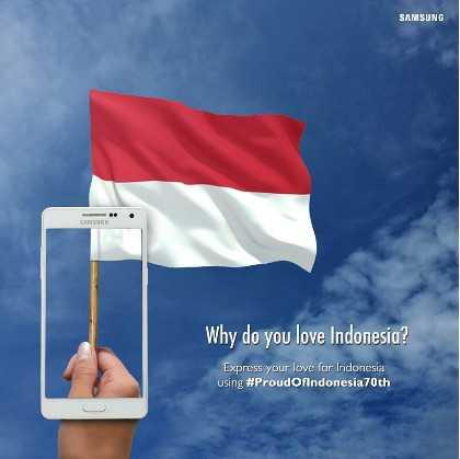 Foto Kontes Proud of Indonesia 70th Samsung Berhadiah Smartphone dan Voucher