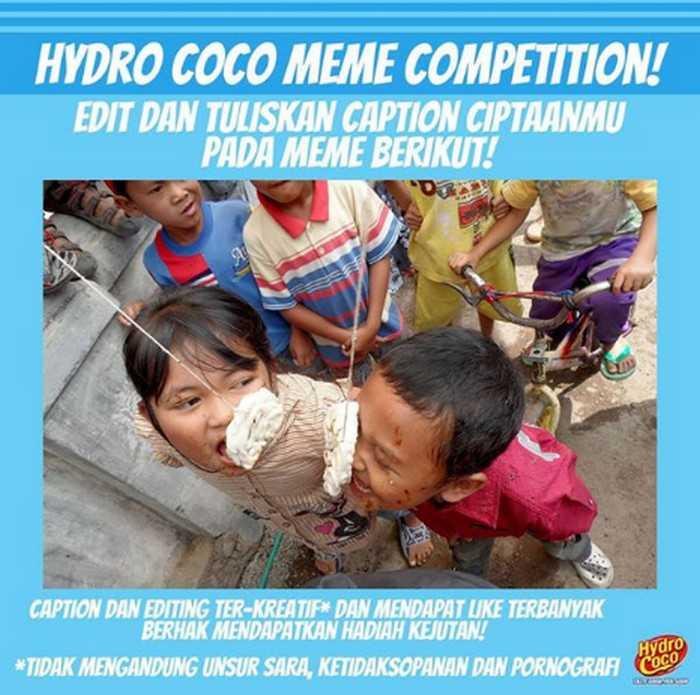 Kontes Meme Hydro Coco Berhadiah Menarik