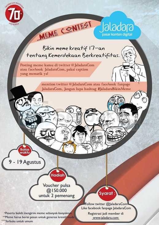 Kontes Meme Kemerdekaan Berkreatifitas Berhadiah Pulsa 300K