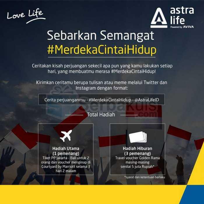 Kontes Merdeka Cintai Hidup Berhadiah Liburan Ke Bali