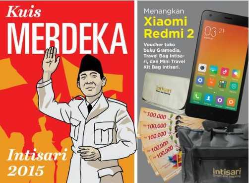Kuis Merdeka Intisari Berhadiah Smartphone