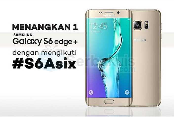 Kuis S6axis Berhadiah Samsung Galaxy S6 Edge Plus