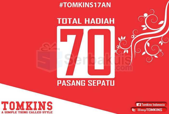Kuis Tomkins 17an Berhadiah 70 Pasang Sepatu