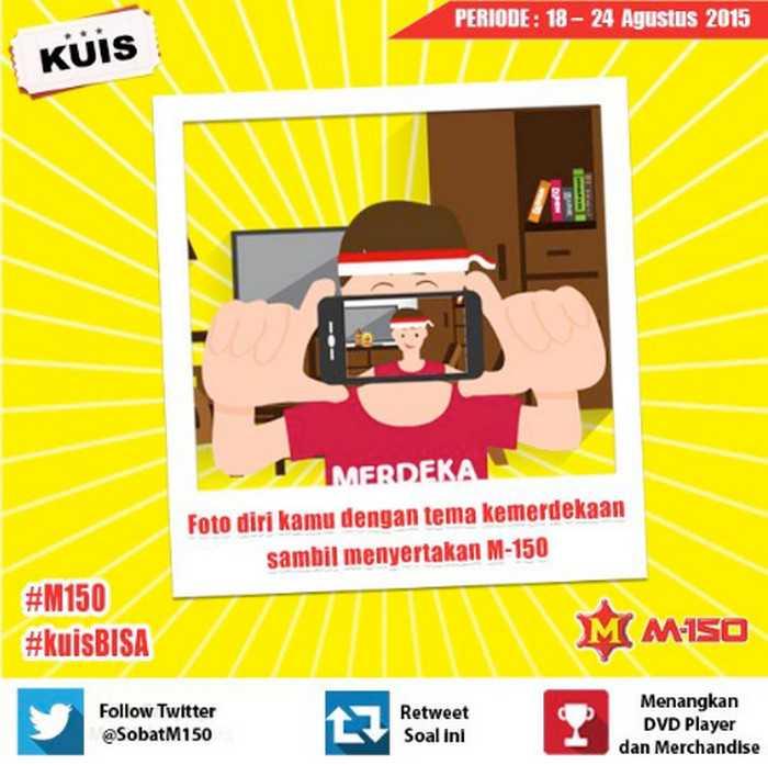 Kuis Twitter M-150 #KuisBisa Berhadiah Dvd Player Tas & Merchandise