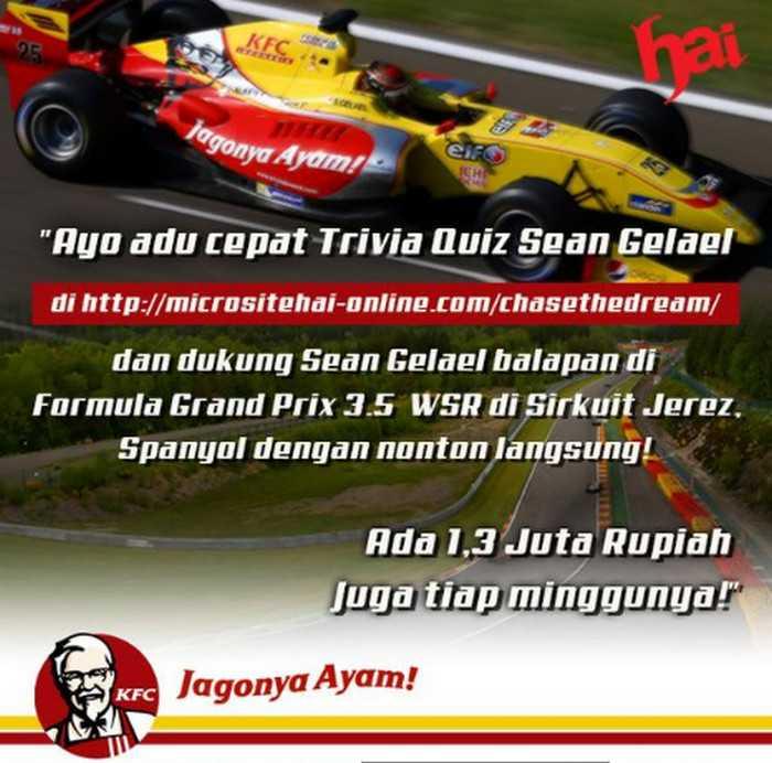 Kuis chase the dream Hai & KFC Berhadiah Terbang Ke Jerez & Uang 1,3 Juta