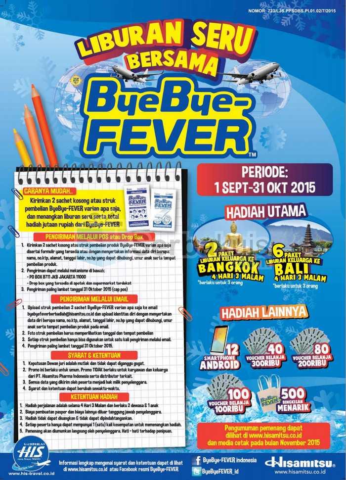 Undian ByeBye-Fever Berhadiah Liburan ke Bangkok & Bali