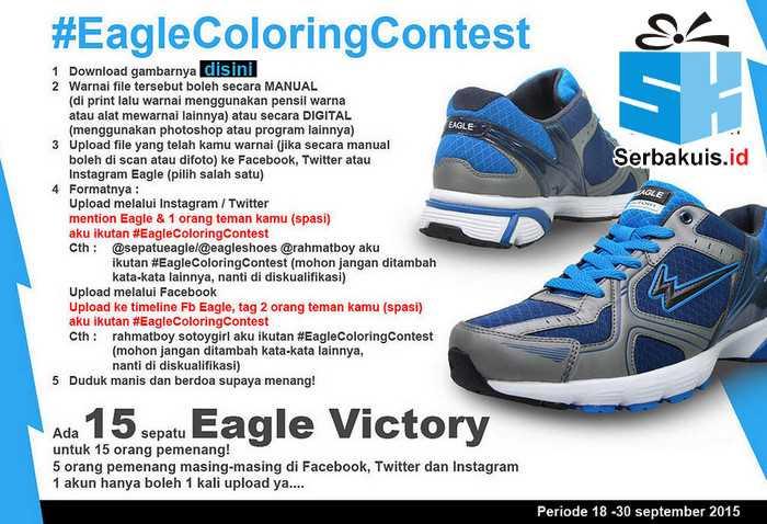 Eagle Coloring Contest Berhadiah 15 Sepatu Eagle Victory