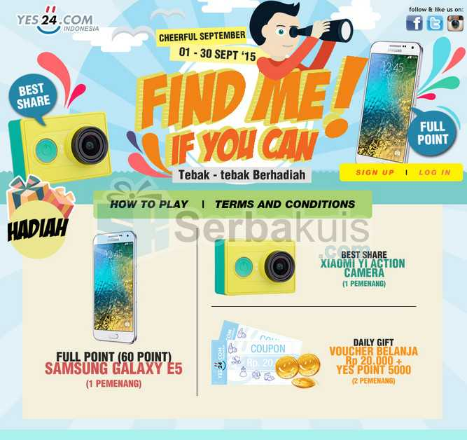Kontes Find Me If You Can Berhadiah Samsung Galaxy E5